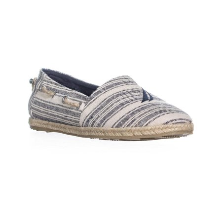 Nautica Rudder Slip-On Espadrille Flats, Navy Triple Stripe - image 6 de 6