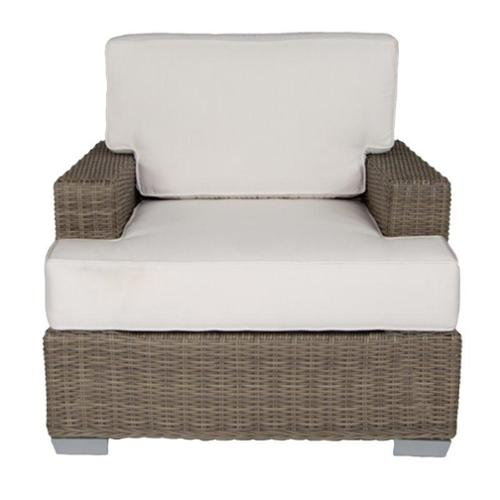 Patio Heaven Palisades Patio Chair in Gray-Dove Gray