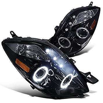 Spec-D Tuning 2LHP-YAR063G-TM Toyota Yaris 3 Door Hatchback Glossy Black Halo Led Projector Headlights