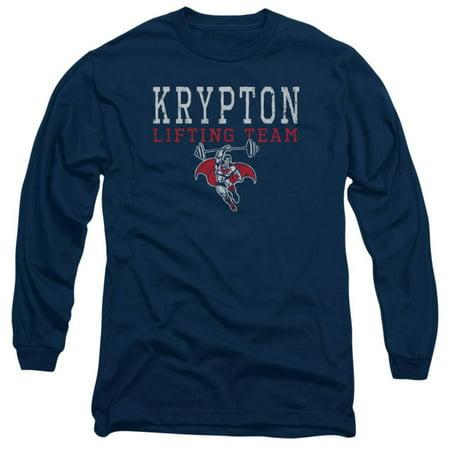 Long Sleeve: Superman - Krypton Lifting Team Apparel Long Sleeves - Blue](Team Apparel)