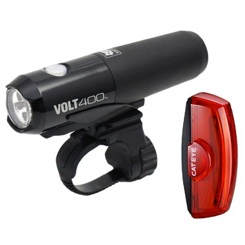 CatEye VOLT 400 Bicycle Headlight / Rapid X2 Tail Light - EL461/LD710 Combo Kit - 8900280