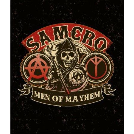 Sons of Anarchy Luxury Plush Throw Raschel Blanket--Samcro-Men of Mayhem, Heavy Quality reschael blanket. By SVT Ship from US ()
