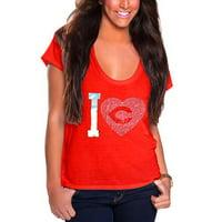 Cincinnati Reds Cuce Women's I Heart Team T-Shirt - Red