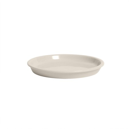 TuxCare 7 1/2 x 7/8 inch Hospital Entree Plate Eggshell/Case of 12