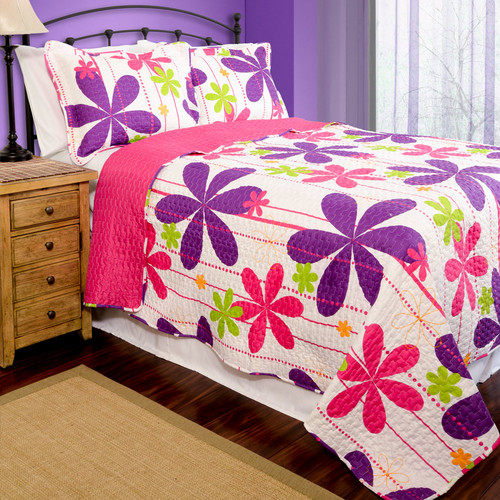 Pegasus Home Fashions Home ID Reversible Quilt Set