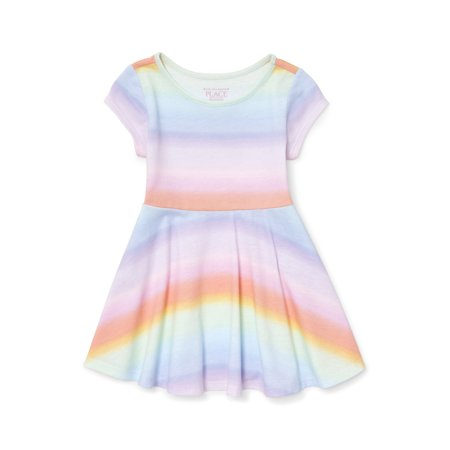Knit Ombre Rainbow Dress (Baby Girls & Toddler - Baby Girl Rainbow Dress