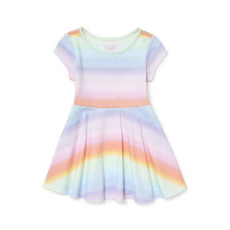 Knit Ombre Rainbow Dress (Baby Girls & Toddler Girls)