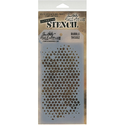 "Tim Holtz Layered Stencil, 4-1/8"" x 8-1/2"""