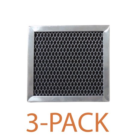 Supco RCP0546 Range Hood Filter (3-Pack) Charcoal filter specifically designed to fit Whirlpool range hoods and microwave ovens.