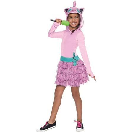 Morris Costumes RU610536LG Jigglypuff Hoodie Dress Kids Costume, Large](Jiggly Puff Costume)