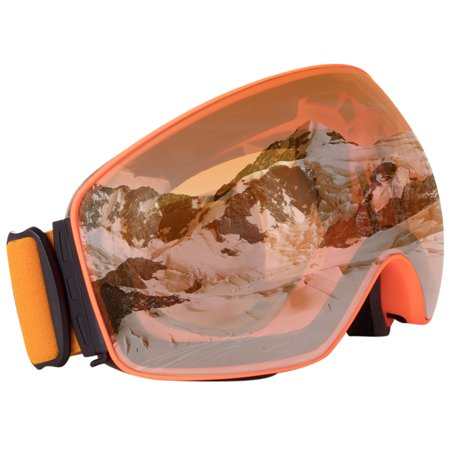 C.F.GOGGLE Outdoor Sports Ski Goggles -Professional, Interchangeable Lens 100% UV400 Protection Snow Goggles for Men & Women (100 Uv400 Schutz)