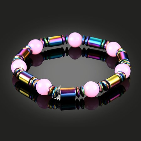 1 PCS Weight Loss Healthcare Round Black Stone Magnetic Therapy Hand Chain Body Care Hematite Stretch Bracelet Magnet Jewelry For Men - Hematite Magnetic Therapy Bracelet