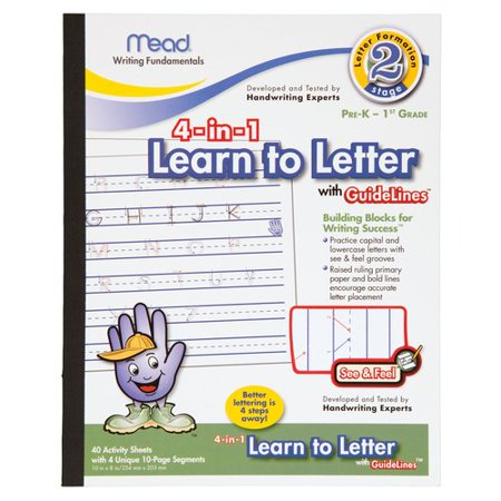 mead 4 in 1 learn to letter with guidelines tablet With mead 4 in 1 learn to letter