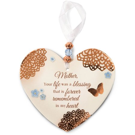 Pavilion Gift Company- Remembrance Heart-Shaped Ornament, 4 x 6