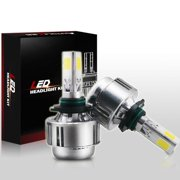 Autolizer 9005 / HB3 / 9040 / 9045 LED 3-Sided Headlight Bulbs All-In-One Conversion Kit 80W 8000LM - 6000K Cool White