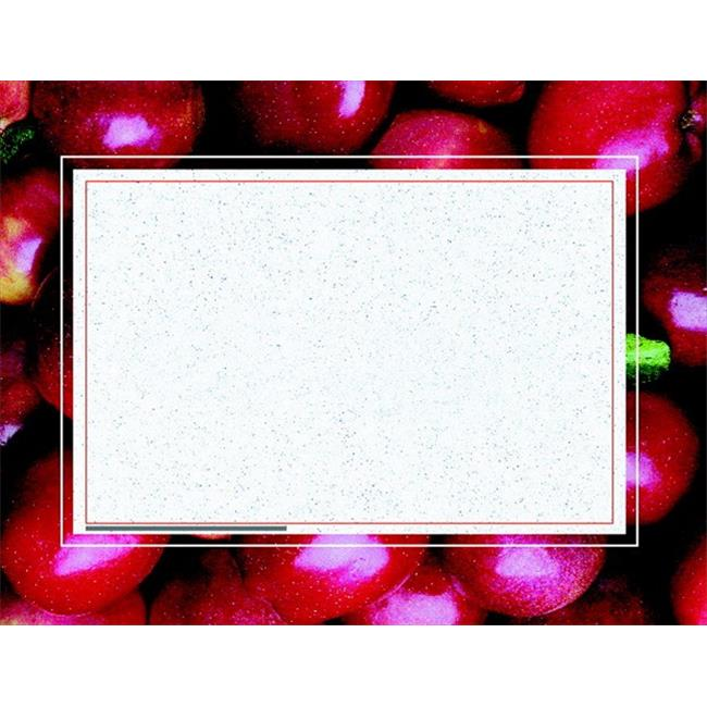Hayes 070370 Replacement Blank Certificate With Borders, Apples, Pack 50