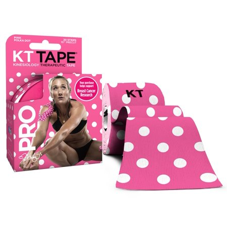 KT Tape, Limited Edition Pro Synthetic, Breast Cancer Awareness Polka Dot, 20 Ct - Limited Edition Breast
