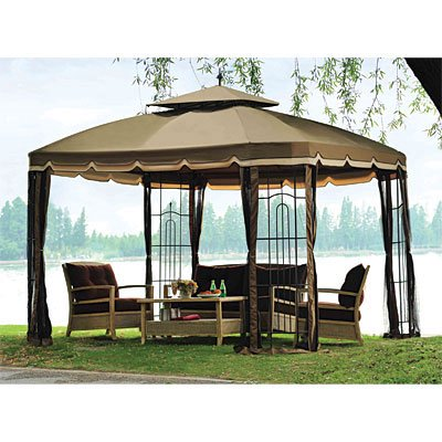 garden winds replacement canopy top big lots bay window gazebo. Black Bedroom Furniture Sets. Home Design Ideas
