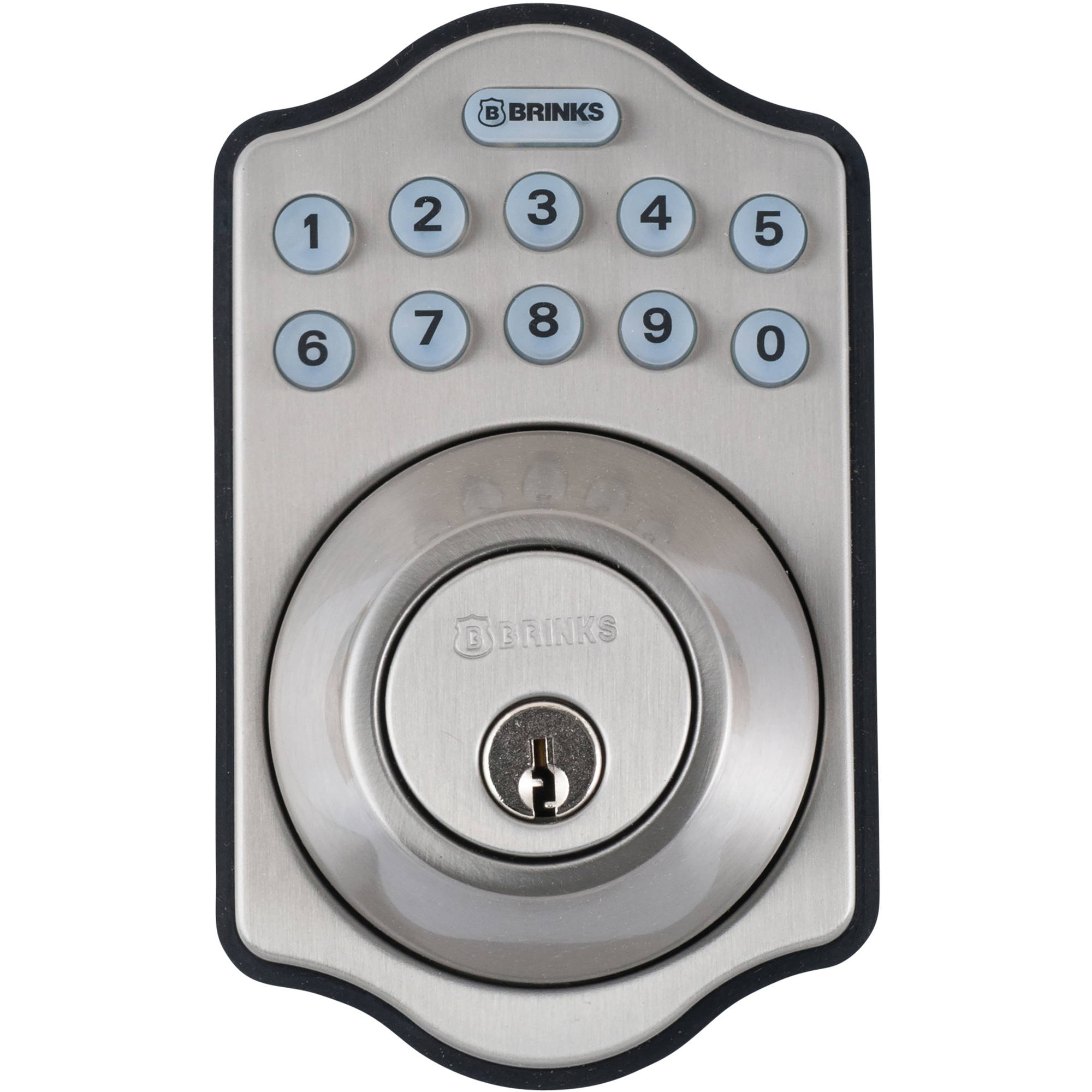 Brinks Digital Deadbolt, Satin Nickel