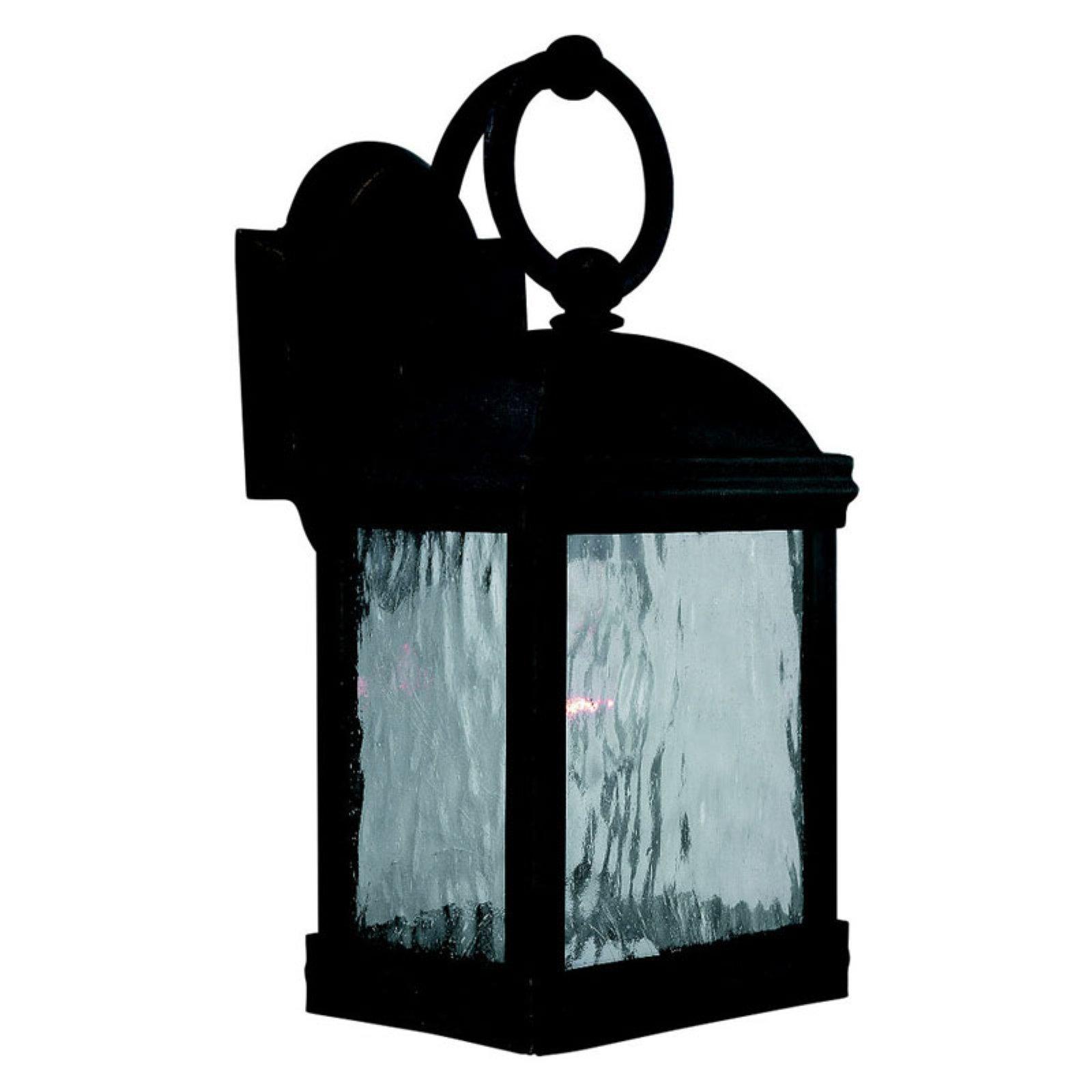 Sea Gull Branford Outdoor Wall Lantern - 14H in. Obsidian Mist