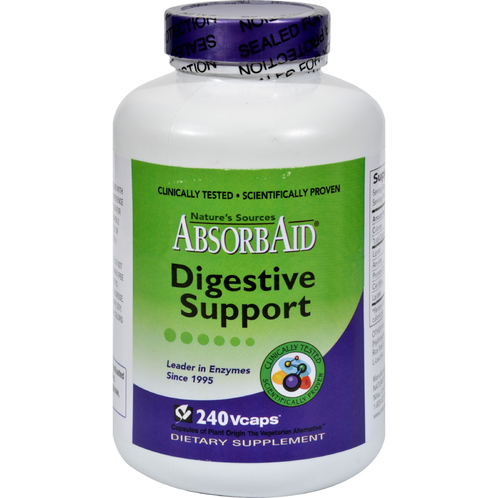 AbsorbAid Digestive Support - 240 Vcaps - (Pack of 2)