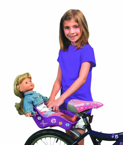 Kids Bike Seat Post Doll Seat with Holder for Kid Bike with Decorate
