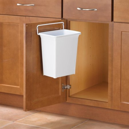 Door-Mounted Kitchen Garbage Can, 9 quart capacity ideal for utility  cabinets and bathrooms. By Knape Vogt From USA