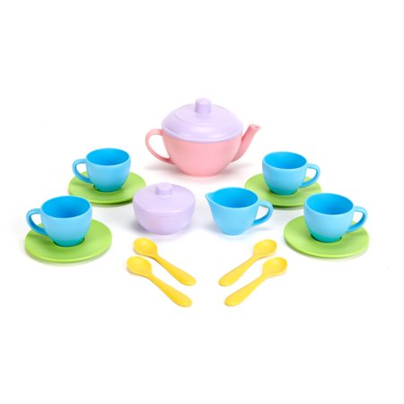 Green Toys Tea Set, Pink