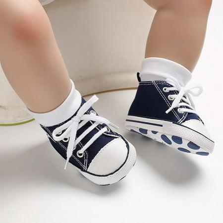 Newborn Baby Boys Girls Canvas Soft Sole Anti-slip Baby Shoes Walking Shoes - image 3 de 9