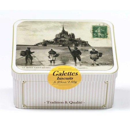 Large Cookie Tin - Maison Peltier - French Butter Cookies (Galettes), 150g tin