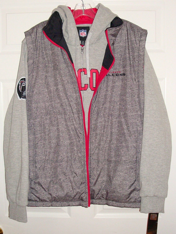 Atlanta Falcons 5-in-1 Reversible Vest Fleece Full Zip Jacket by G-III Sports