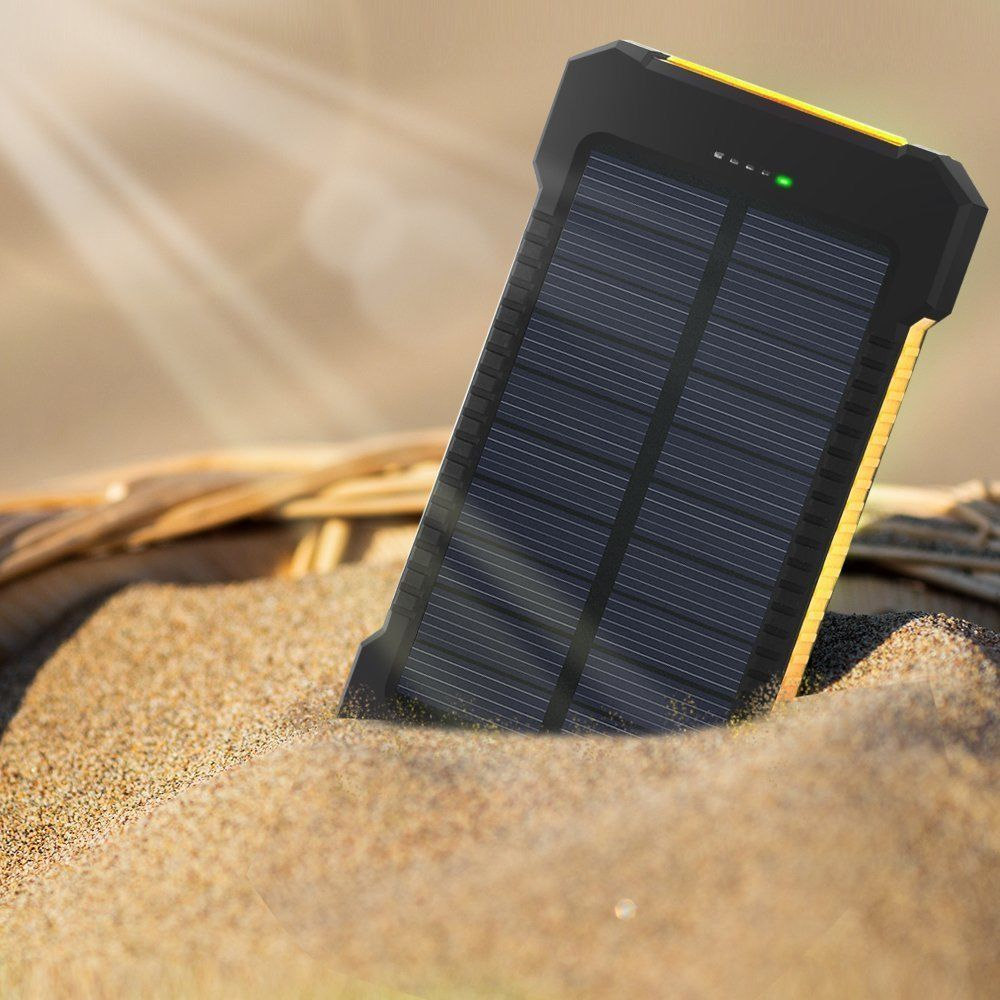 Solar Charger Tagital 300000mah Power Bank External Battery Pack With Dual Usb Port Led Flashlight For Iphone Samsung Cellphones Ipad Tablet