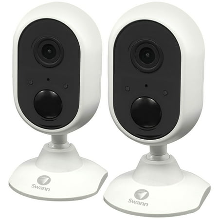 Swann SWWHD-INDCAMPK2-US 1080p Indoor Wi-Fi Camera with Alexa Voice Control (2 pk)
