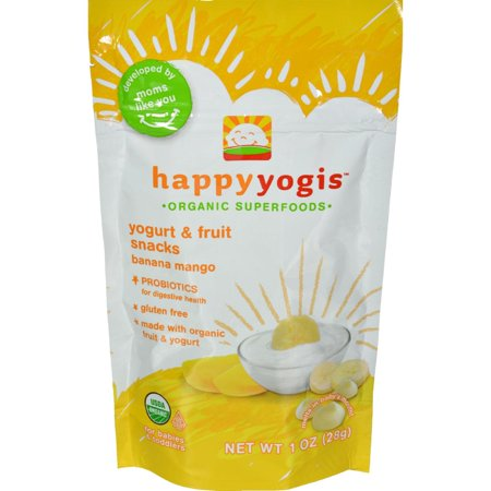 Baby Snack Tray - Happy Baby Happy Melts Yogurt Snacks, Organic, Banana Mango - 1 oz