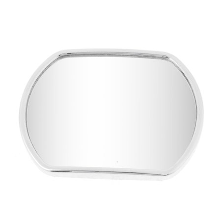 Truck Car Stick-on Wide Angle Convex Rearview Blind Spot Mirror Silver Tone - image 1 of 1