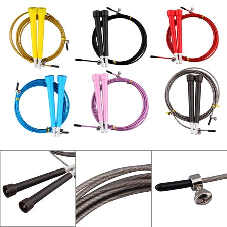 HC-TOP Cable Steel Jump Skipping Jumping Speed Fitness Rope Cross Fit MMA Boxing - image 2 of 7