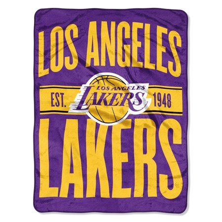 "NBA Los Angeles Lakers ""Clear Out"" 46""x 60"" Micro Raschel - La Laker"