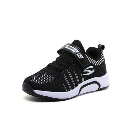 Sport Shoes for Boys girls Breathable Knit Sneakers Lightweight Mesh Athletic Running Sneakers(Toddler/Little Kid/Big