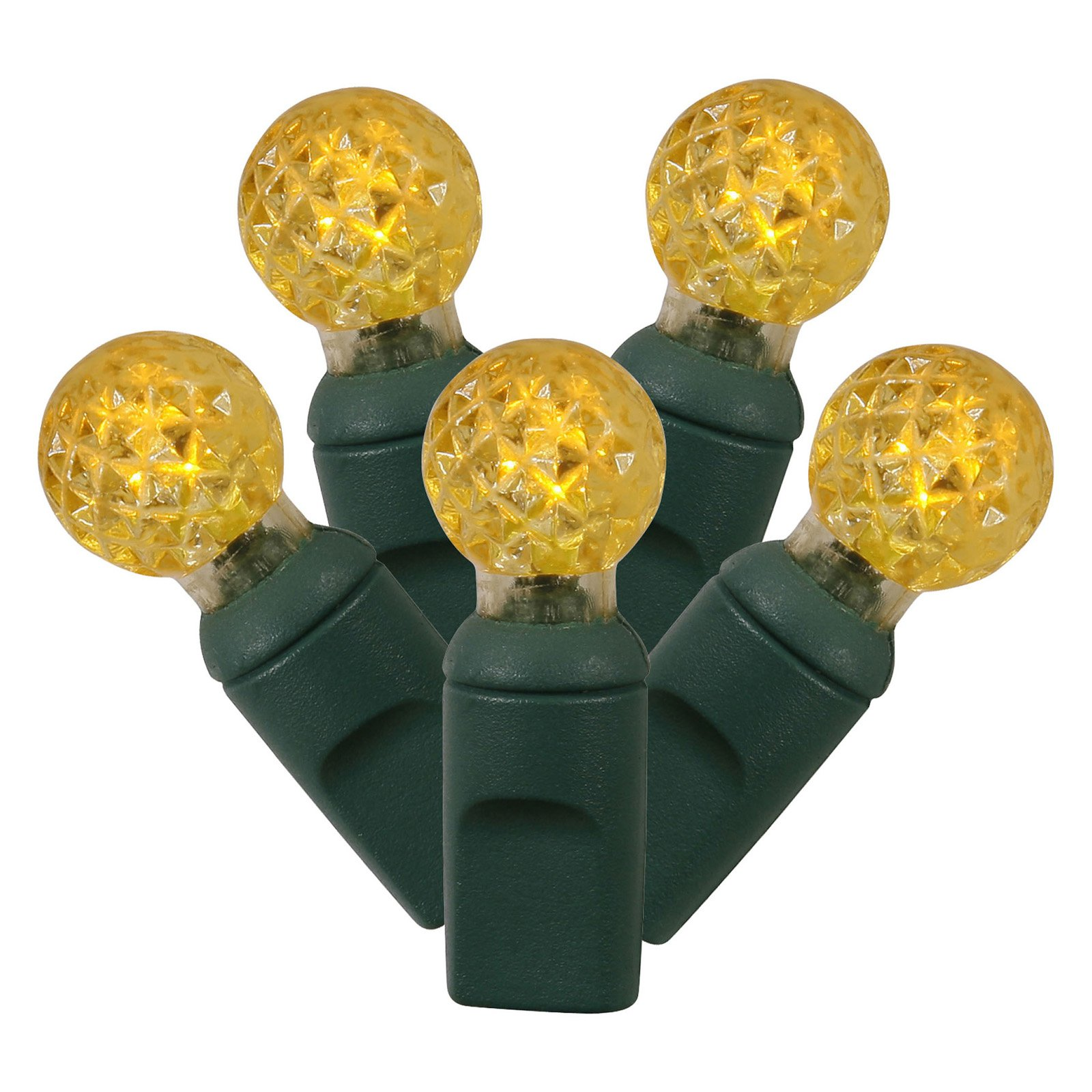 Vickerman 50 ct. Yellow G12 LED Lights with Green Wire - Set of 2