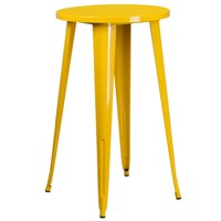 Bowery Hill Metal Patio Bistro Table in Yellow