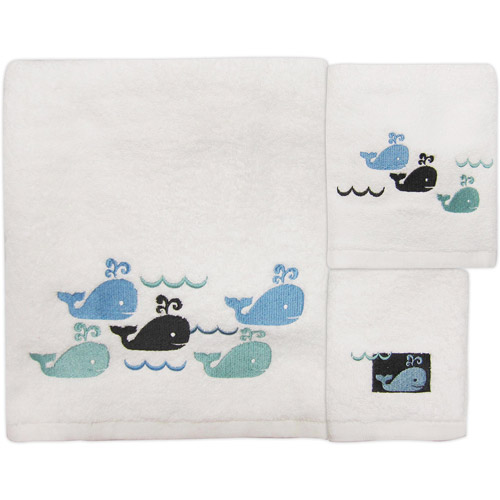 Whale Watch 3-Piece Towel Set