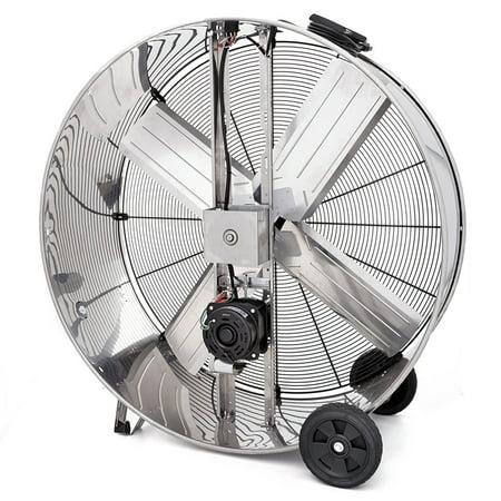 Shop-Vac 1181200 48-Inch 3/4-HP Stainless Steel Belt Drive Industrial Drum  Fan