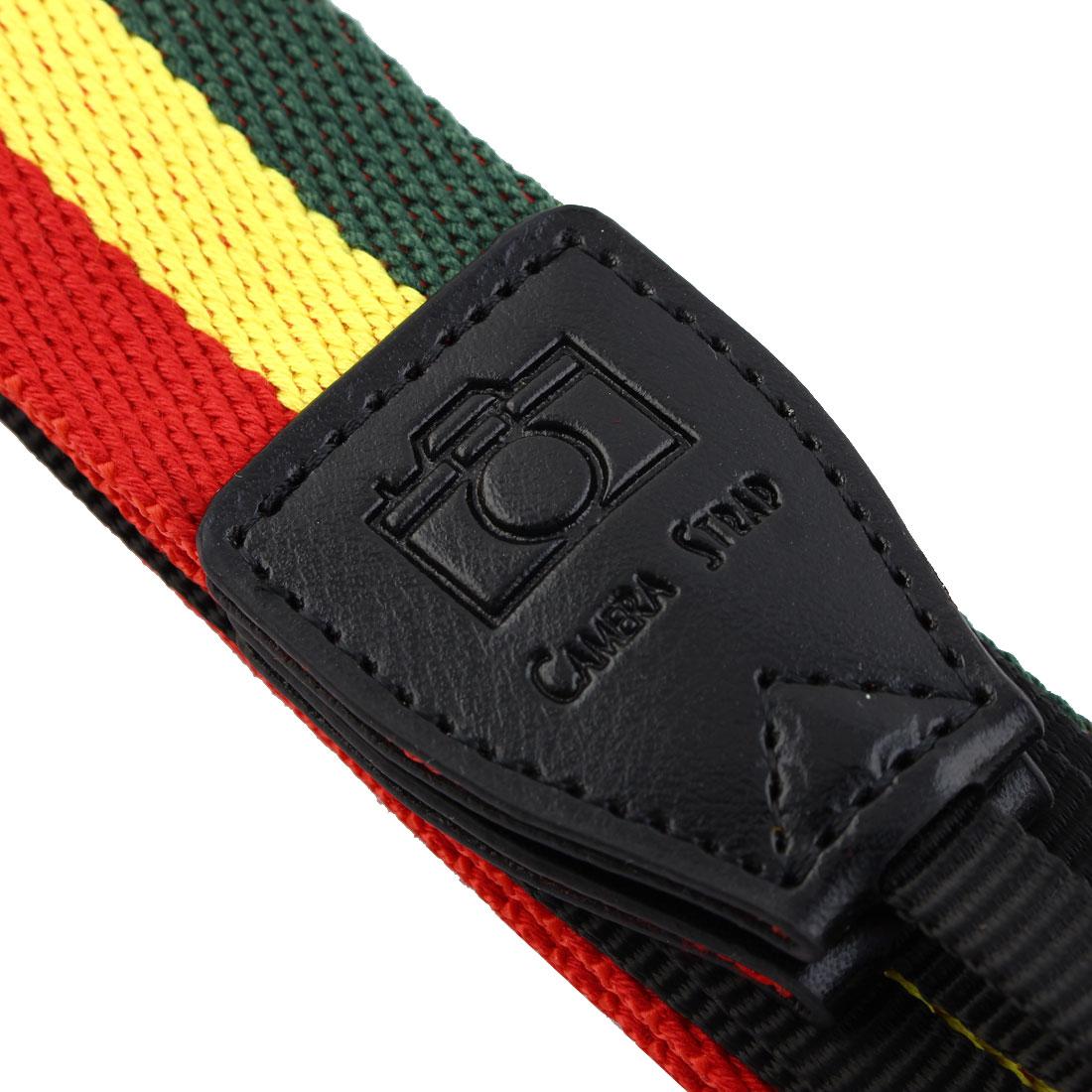 SHETU Authorized SLR Camera Anti-slip Shoulder Neck Strap Belt Green Yellow - image 2 de 6