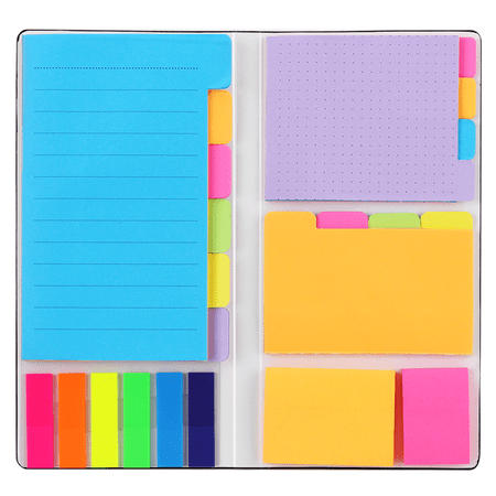 Sticky Notes Set, Hommie Colored Divider Self-Stick Notes Pads Bundle, Prioritize with Color Coding