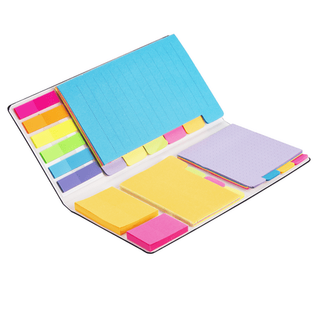 Sticky Notes Set, Hommie Colored Divider Self-Stick Notes Pads Bundle, Prioritize with Color Coding Stick Sticky Shapes