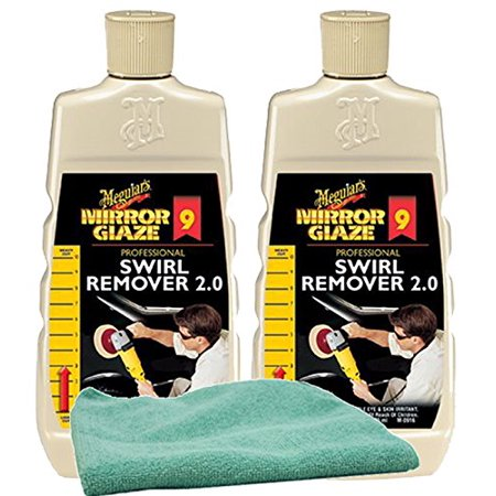 Meguiars Professional Swirl Remover (16 oz.) Bundle with Microfiber Cloth (3 Items)
