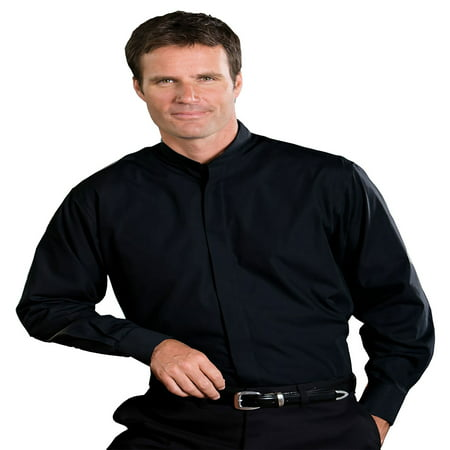 Edwards Garment Men's Big And Tall Banded Collar Long Sleeve Shirt, Style 1396 Banded Collar Long Sleeve Work Shirt