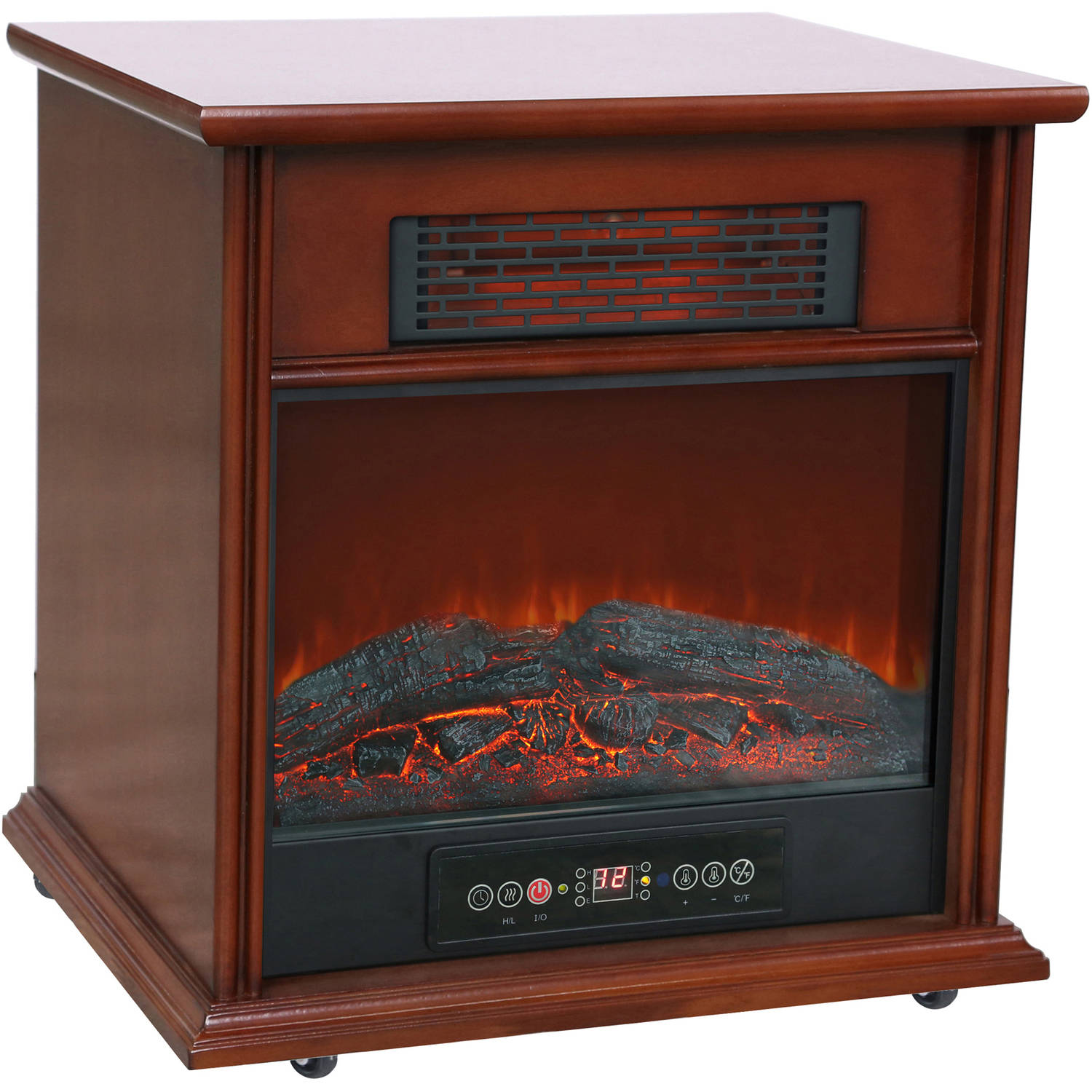 1500W Hearth Trends Infrared Electric Fireplace Walmartcom