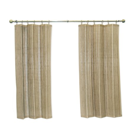 Versailles' Bamboo Wood Curtain Ring Top Panel (40in x 63in) Ring Top Panel