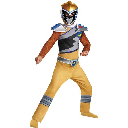 Gold ranger dino classic child halloween costume One - Solid Gold Costume